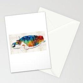 Colorful Sea Turtle By Sharon Cummings Stationery Cards