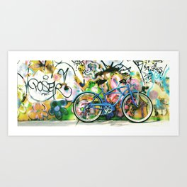 blue bike series 1.0 Art Print
