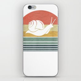 Retro Vintage Snail T-Shirt Gift For Family Love Animals iPhone Skin