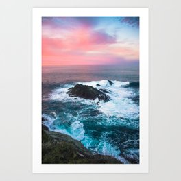 Sunset on the Bay of Biscay Art Print