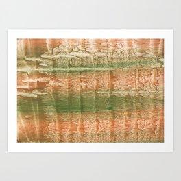 Brown green blurred watercolor texture Art Print