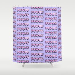 Cyber Peace Shower Curtain