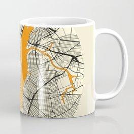 New York Map Moon Coffee Mug
