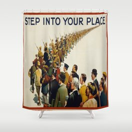 Vintage poster - Step into your place Shower Curtain