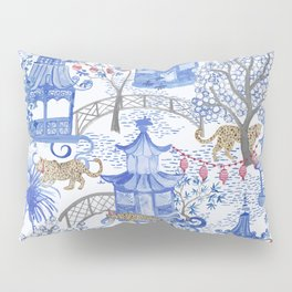 Party Leopards in the Pagoda Forest Pillow Sham