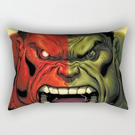 Hulk green red superhero Rectangular Pillow