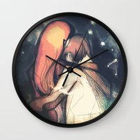 constellations Wall Clocks featuring Constellations by The Longfall of 1979