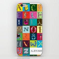 Hand Drawn Alphabet iPhone Skin