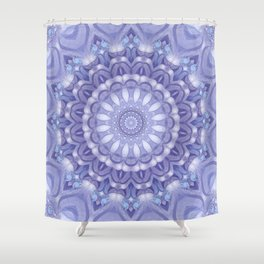 Light Blue, Lavender & and White Mandala 02 Shower Curtain