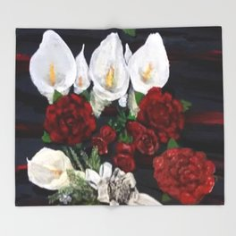 Lillies ad Roses Throw Blanket