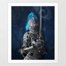 Fight like a fearless lady Art Print