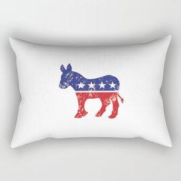 Democrat Original Donkey Distressed Tan Rectangular Pillow