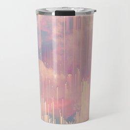 Candy Glitched Sky Travel Mug