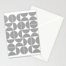 Mid Century Modern Geometric 04 Grey Stationery Cards