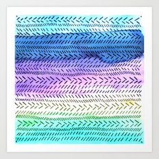Slash dot Dash Art Print