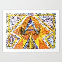 Mayan heaven Art Print