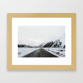 Aoraki Roads Framed Art Print
