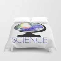 science Duvet Covers featuring Science! by Bunhugger Design
