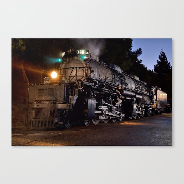 UP 4014. Union Pacific.  Steam Train Locomotive. Big Boy. © J. Montague. Canvas Print