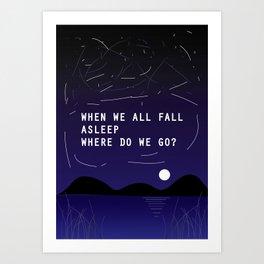 Billie's lyric- Bury a friend Art Print
