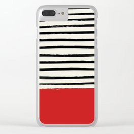 Red Chili x Stripes Clear iPhone Case