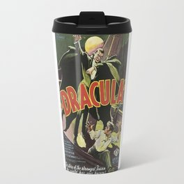 Dracula, vintage horror movie poster Travel Mug