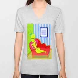 """Stealing Matisse"" (Picasso Watching) Unisex V-Neck"