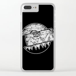 Shape Shifting in Black Clear iPhone Case