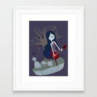 marceline Framed Art Prints featuring Marceline by Tae V