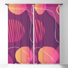Red Orange And Purple Abstract Design Blackout Curtain