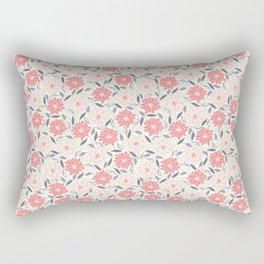 Pink and red flowers Rectangular Pillow