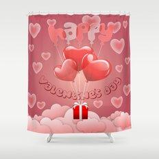 Happy Valentine´s day Shower Curtain