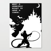 castlevania Canvas Prints featuring Castlevania by Darth Paul