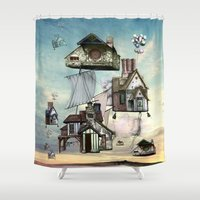 house Shower Curtains featuring house by Кaterina Кalinich