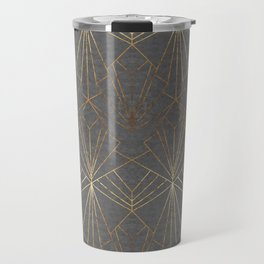 Art Deco in Gold & Grey Travel Mug