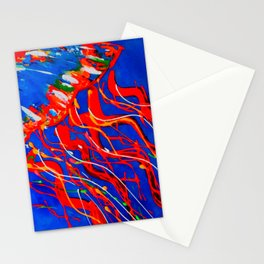 Red Jellyfish Stationery Cards