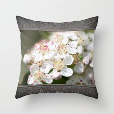 Aronia Blossoms Throw Pillow