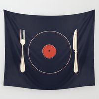 food Wall Tapestries featuring Vinyl Food by Koning