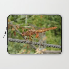 Female Red Skimmer Dragonfly Laptop Sleeve