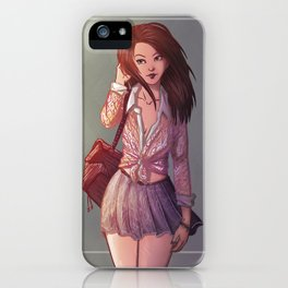 RED HAIR iPhone Case