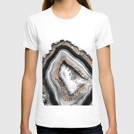 Agate Gold Glitter Glam #1 #gem #decor #art #society6 T-shirt