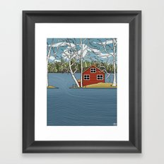 Lake House Framed Art Print