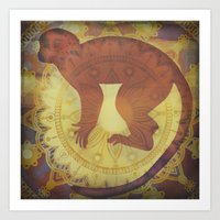 journey Art Prints featuring Journey by SpaceFrogDesigns