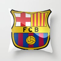 barcelona Throw Pillows featuring BARCELONA by Acus