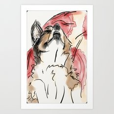 Charles Red Art Print