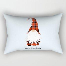 Bah Humbug, Funny Cute Gnome Rectangular Pillow