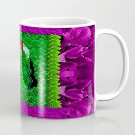 Pattern in fauna and a Cat Mermaid Coffee Mug