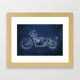 1969 triumph bonneville classic vintage motorcycle christmas gift Framed Art Print