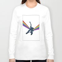 dark side Long Sleeve T-shirts featuring Dark side by Mattia Iacono