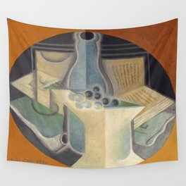 "Juan Gris ""Raisins, carafe et livre (Grapes, jug and book)"" Wall Tapestry"